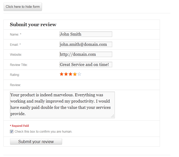 WP Customer Review WordPress Plugin