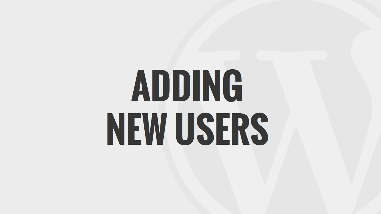 Adding New Users