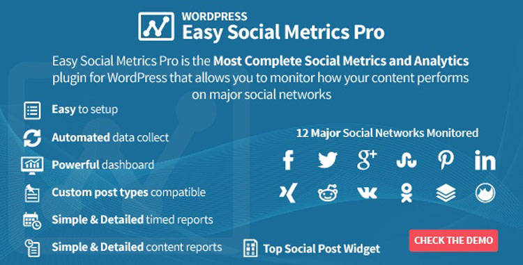 Easy Social Metrics Pro WordPress Plugin