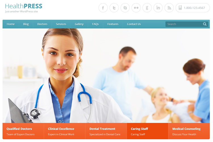 HealthPress Health & Medical WordPress Theme