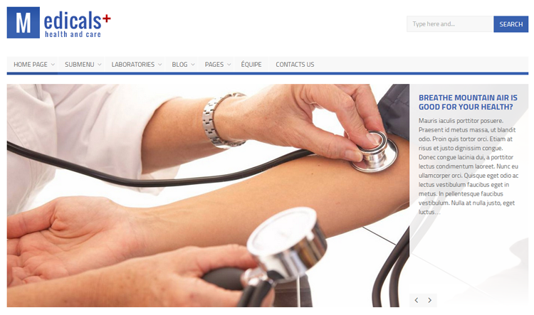Medicals+ Health & Medical WordPress Theme
