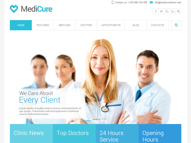 Medicure Health & Medical WordPress Theme