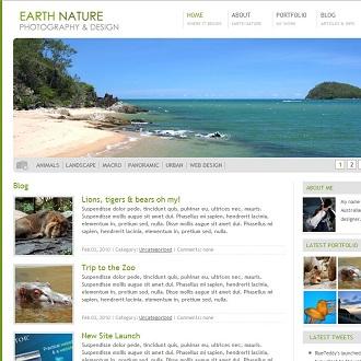 Earth Nature WordPress Theme