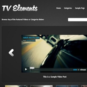 TV Elements, Video WordPress Theme
