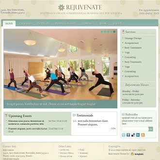 Rejuvenate Spa WordPress Theme