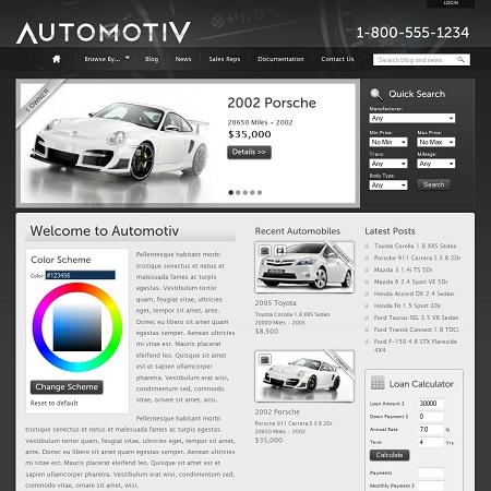 Car Dealership WordPress Theme