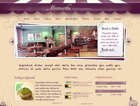 Monmarthe Cafe WordPress Theme