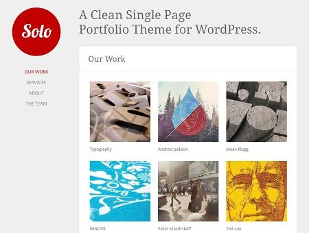 Solo Single Page WordPress Theme
