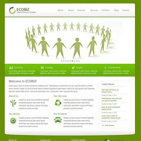ECOBIZ Green Business WordPress Theme