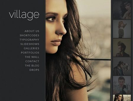 Village FullScreen Photography WordPress Theme