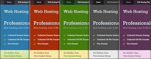 Web Hosting Theme Colors