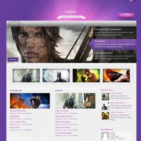 Legion Community WordPress Theme With Built-In Adsense Sharing