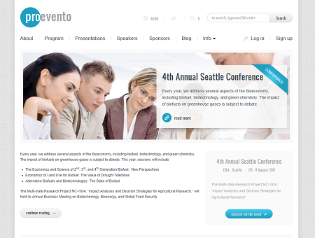 Evento Event Management WordPress Theme