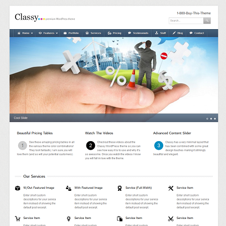 Classy premium business wordpress theme flashek