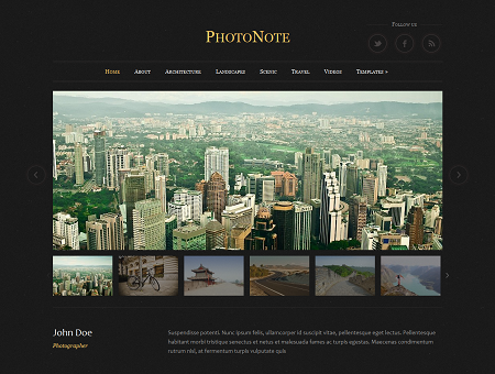PhotoNote Responsive Photography WordPress Theme