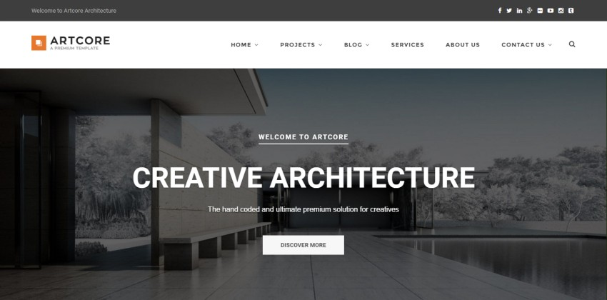 8 best wordpress themes for exterior design architecture for Architecture wordpress