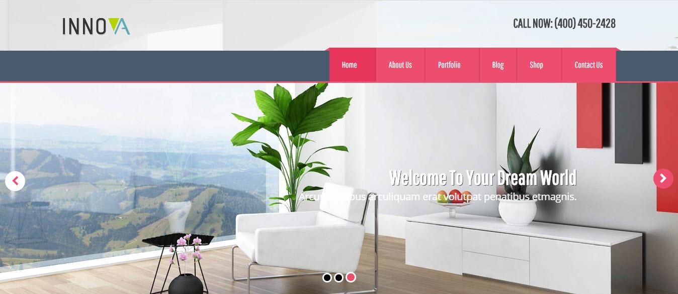3. Innova - Interior & Furniture WordPress CMS Theme