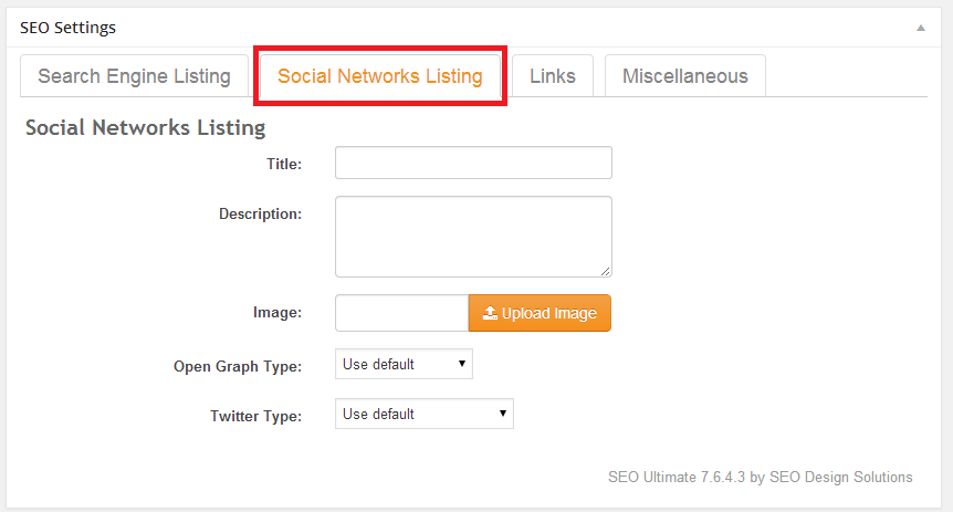 Add New Post - Social Networks Listing