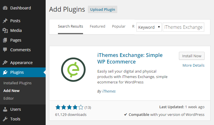 Add iThemes Exchange