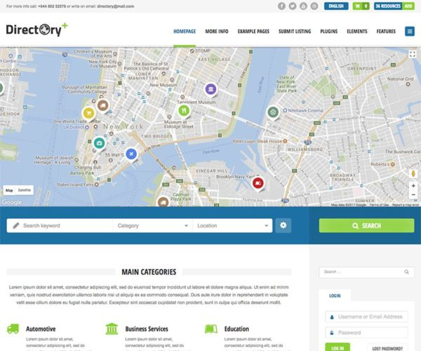 Directory+ Premium Listings WordPress Theme