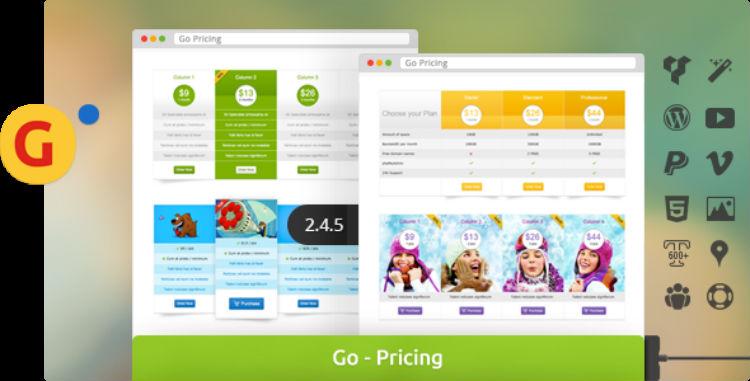 Go Pricing Tables Plugin