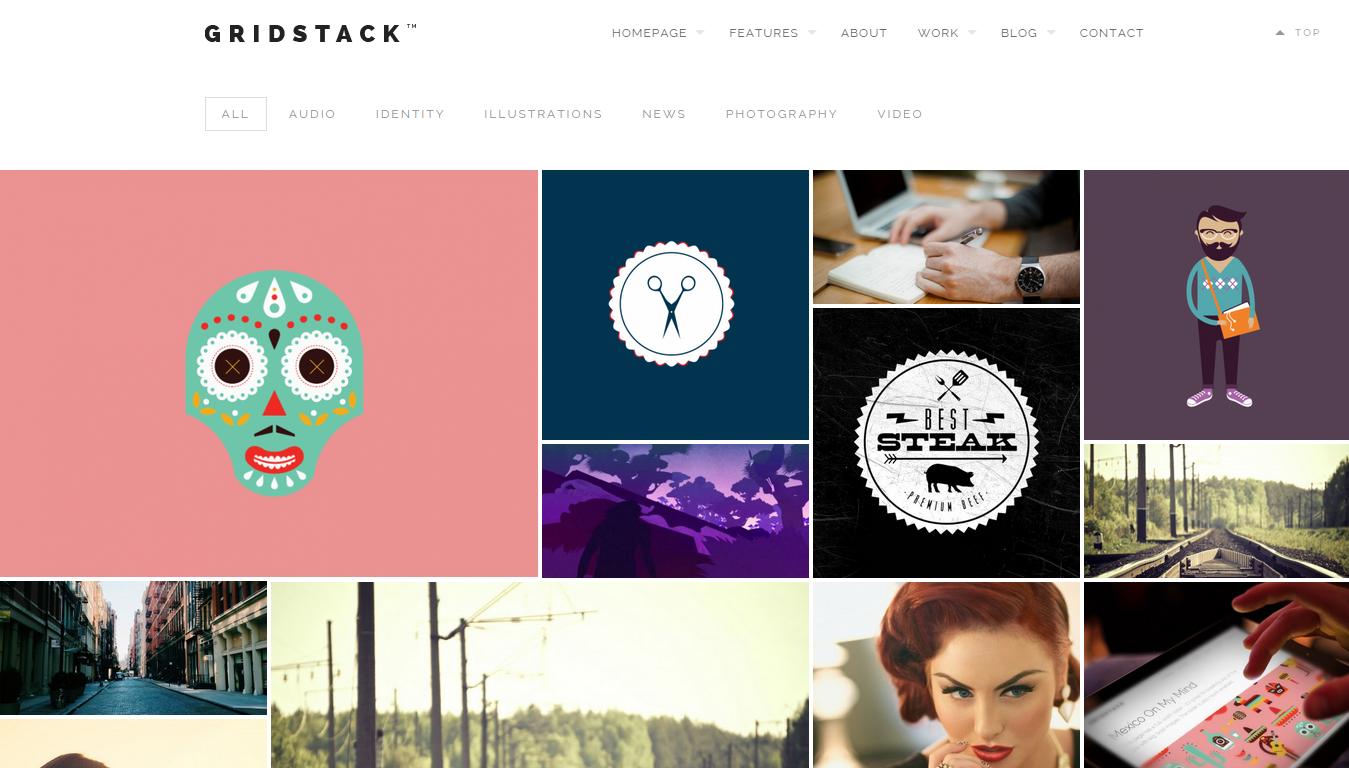 6. GridStack - Responsive Agency WordPress Theme
