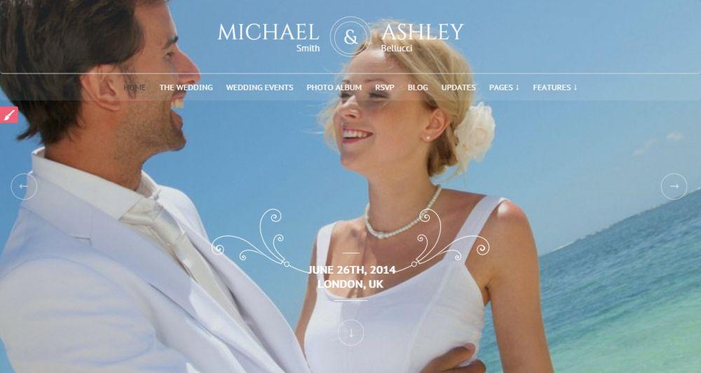 Honeymoon - Wedding Responsive Theme
