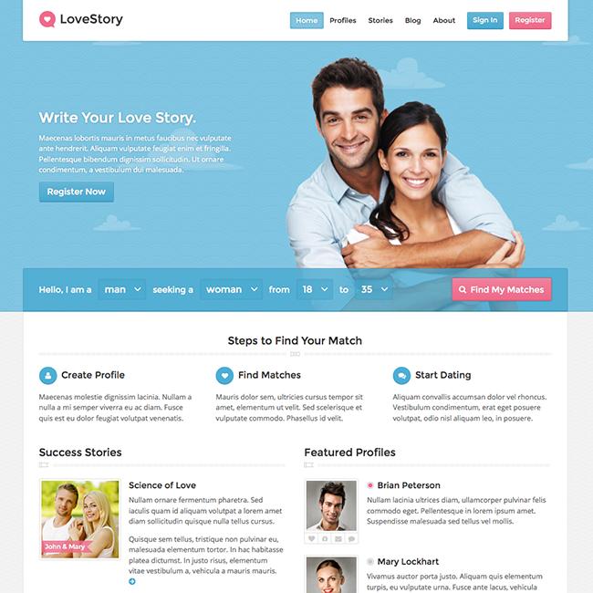Lovestory - Dating Wordpress Theme Nulled