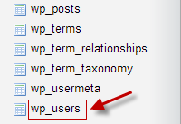Using the default prefix i.e. '_wp'