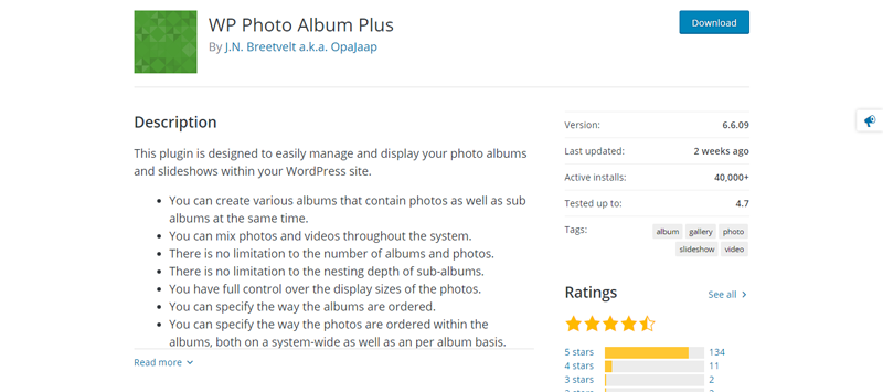 WP Photo Album Plus wordpress galleries