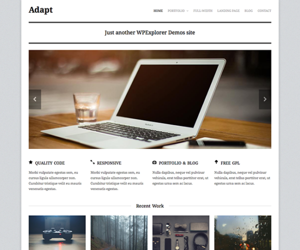Adapt Free Responsive Business Portfolio WordPress Theme