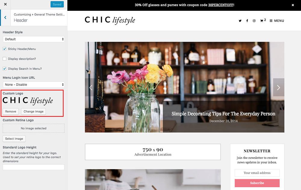 Change or Upload a Logo in WordPress
