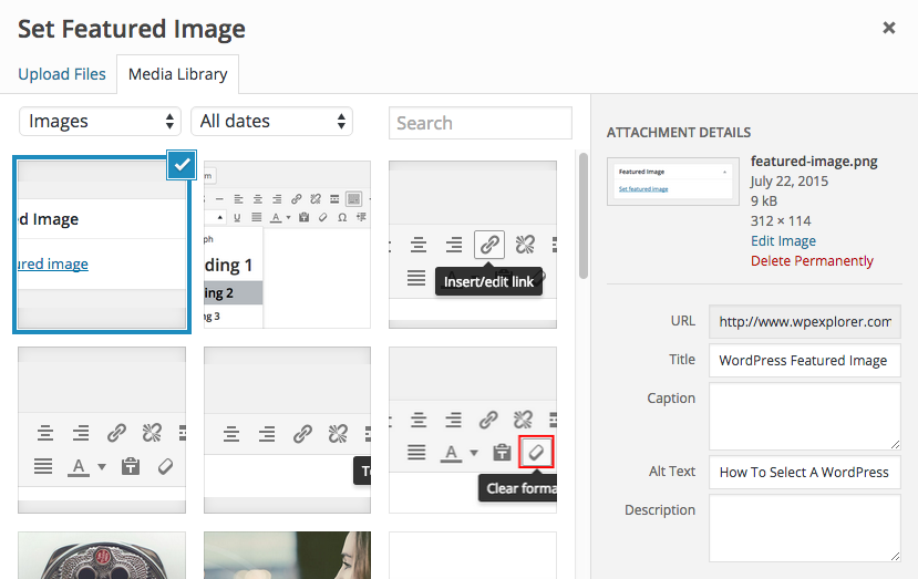 Adding WordPress Featured Images
