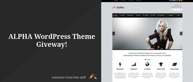 Alpha WordPress Theme Giveaway (Over)
