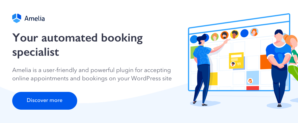 Amelia Enterprise-Level Appointment Booking WordPress Plugin