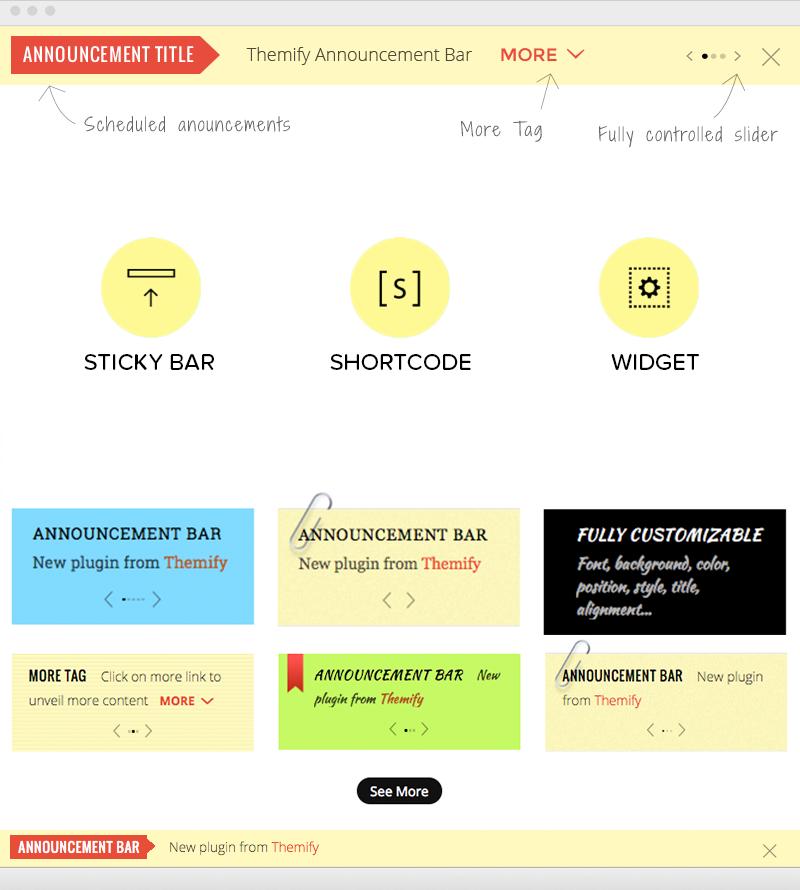 Announcement Bar WordPress Plugin