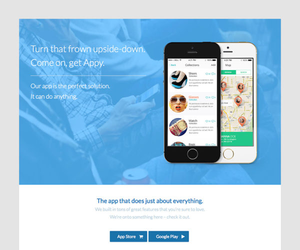 Appy Mobile Landing Page: A Total WordPress Theme Demo