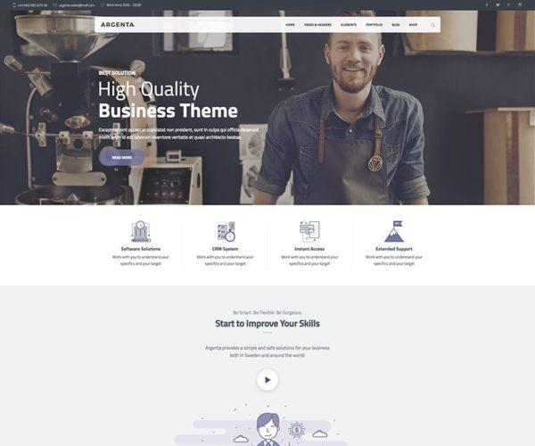 Argenta Creative Multipurpose WordPress Theme
