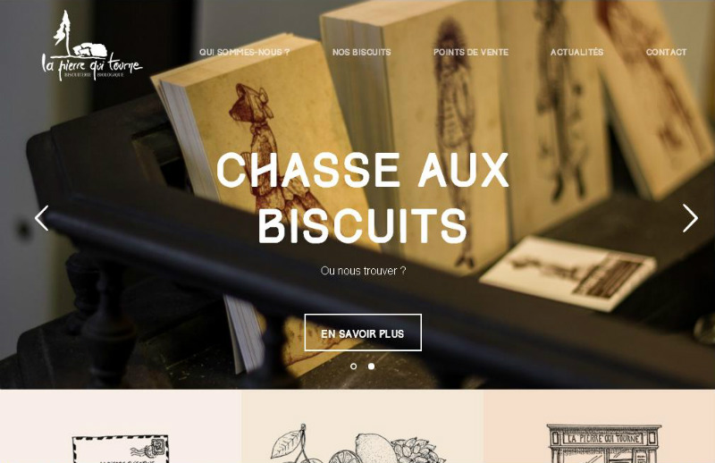 Awesome Examples of WordPress: La Pierre Qui Tourne