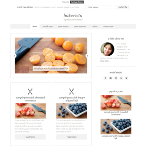 Bakerista Blogging WordPress Theme