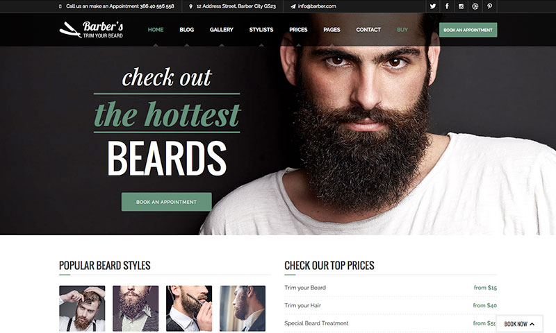 The best beauty salon wordpress themes wpexplorer barber wordpress theme for barbers hair salons urmus Images