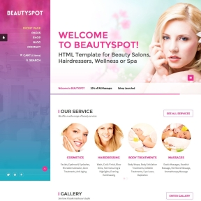 BeautySpot Salon & Spa WordPress Theme
