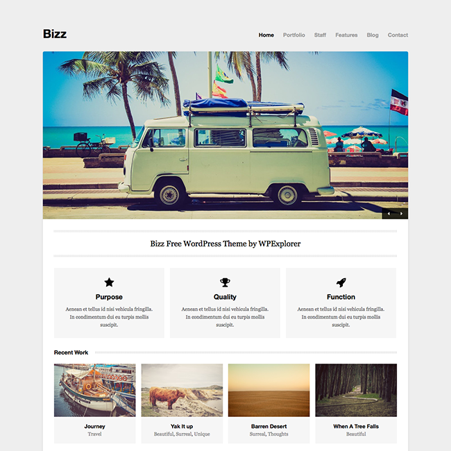 Bizz free minimal business portfolio wordpress theme bizz free minimal business portfolio wordpress theme accmission
