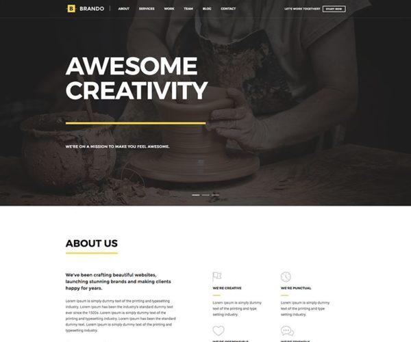 Brando Responsive and Multipurpose OnePage WordPress Theme
