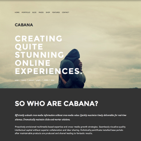 Cabana Modern Portfolio WordPress Theme