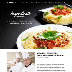 Capella Parallax Restaurant WordPress Theme