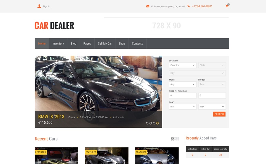 CarDealer Auto Dealer WordPress Theme