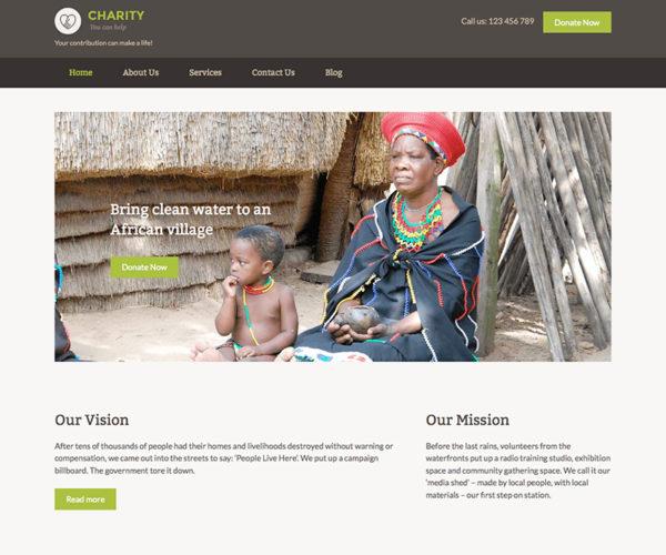 Charity Quick Edit Nonprofit WordPress Theme
