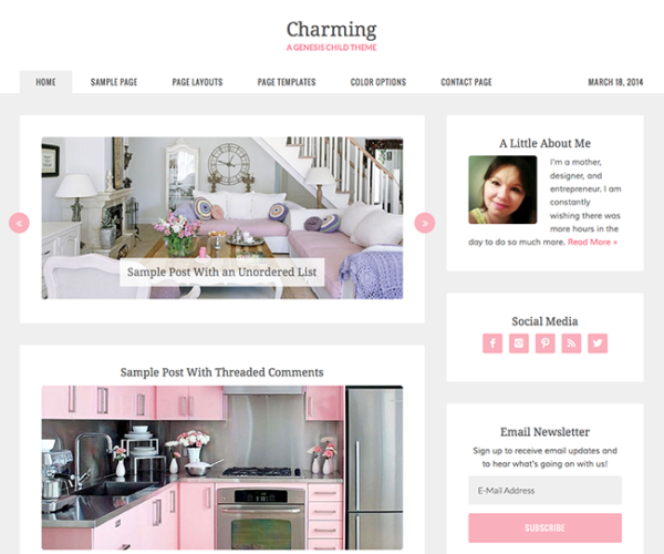 Charming Genesis Child WordPress Theme