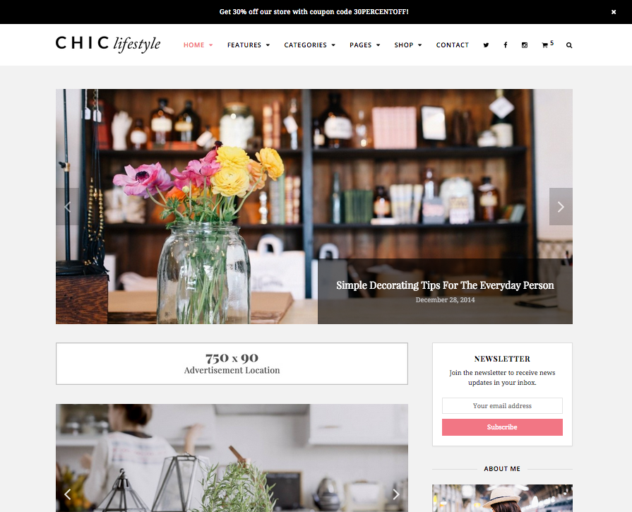 Chic Lifestyle & Beauty WordPress Theme